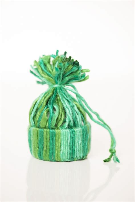 How To Make Paper Yarn - how to make a tiny hat ornament with yarn expression
