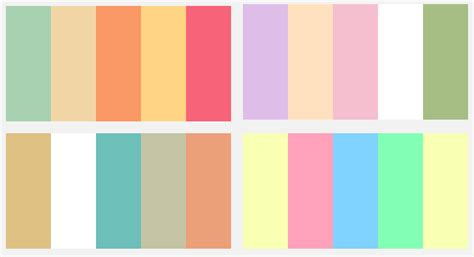 pretty color schemes le bunny bleu image pretty color palette vs chic