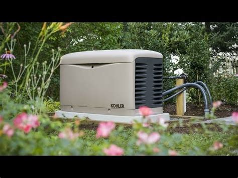 how does a home standby generator use gas or li