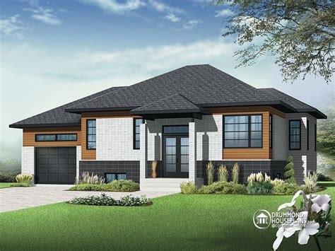 Split Level Housing by Contemporary Bungalow House Plans One Story Bungalow Floor