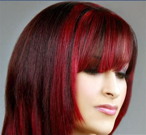 do it yourself highlights for dark brown hair the 25 best bright red highlights ideas on pinterest