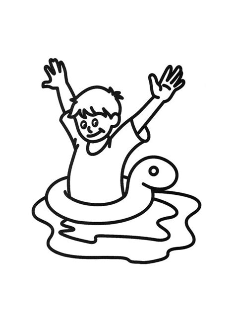 coloring page boy swimming people swimming pictures cliparts co