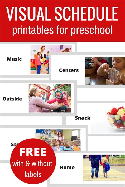 free printable daily schedule for preschool 25 best ideas about visual schedule preschool on