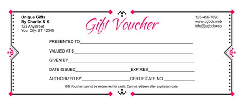 Gift Voucher Template 3 Gift Coupon Template