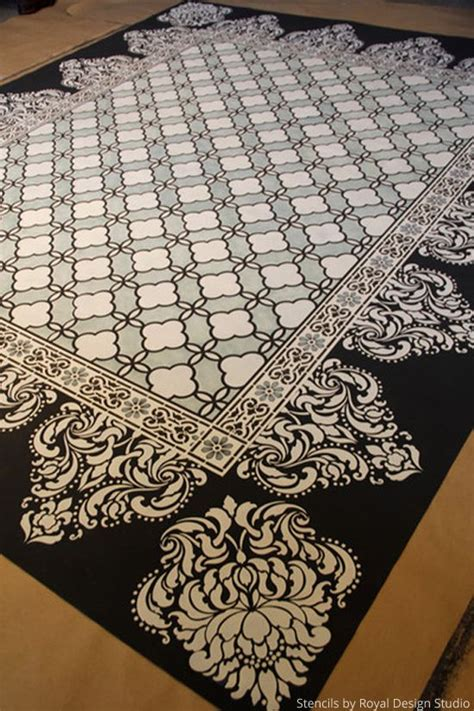 painted rug stencils 1000 images about painted floors and rugs on vinyls painting plywood floors and