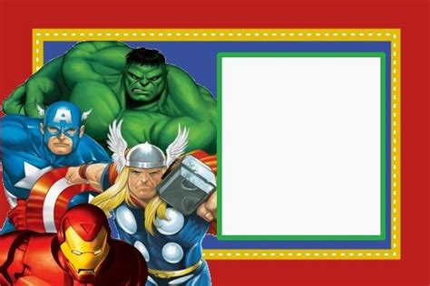 marvel birthday card template kit gratis de los vengadores ideas y material gratis