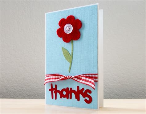 Handmade Cards For Teachers - flower thank you appreciation card flowers