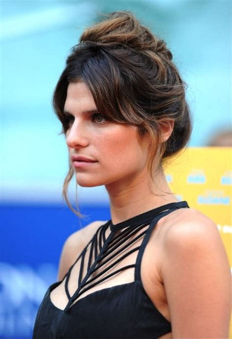 Lake Hairstyle by Lake Bell Casual Updo Hairstyle Behairstyles