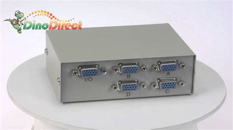 Manual Vga Switch Mt 15 4c maituo mt 15 4c manual 4 port vga switch from dinodirect