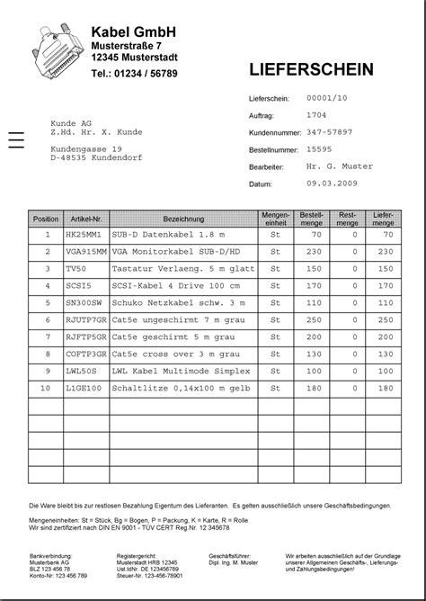 Angebot Muster österreich Lieferschein Vorlage Wordlieferschein Vorlagepng Vorlagen Rechnungen Lieferscheine Angebote