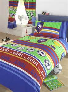 Football single or double duvet cover bedding sets or curtains stripes