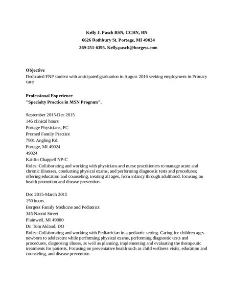 Rn Bsn Resume by Resume Template Bsn Registered Edit Fill