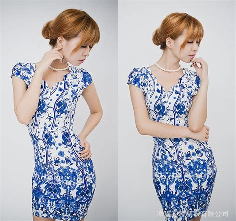 Tas Import 1472 dress pesta wanita motif batik d995 moro fashion