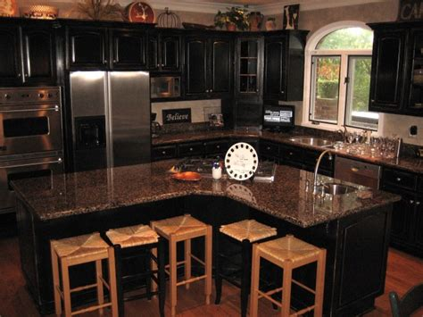 Kitchens With Black Cabinets Pictures Kitchen Trends Distressed Black Kitchen Cabinets