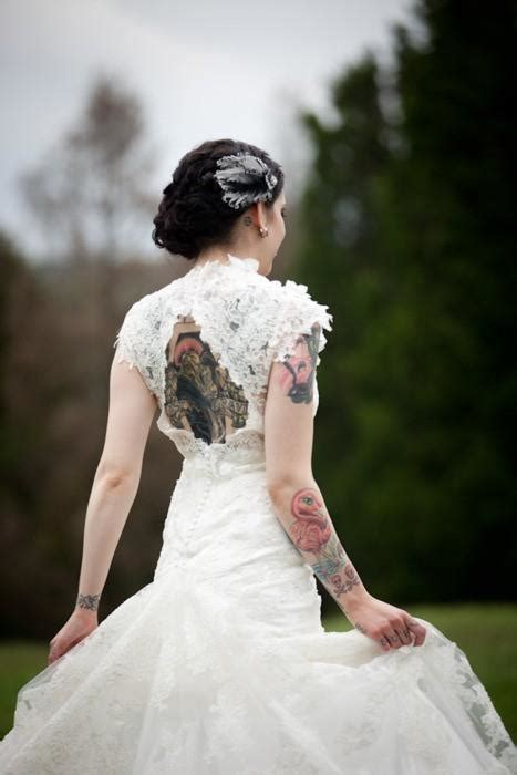 brides with tattoos backless tattooed design of tattoosdesign of tattoos