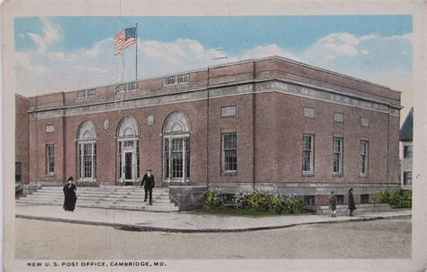 Maryland Post Office by Cambridge Maryland Post Office Post Card