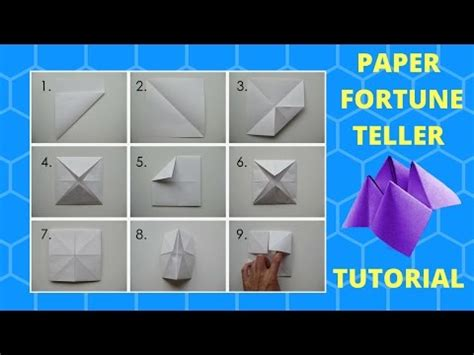 Stuff You Can Make Out Of Paper - how to make a paper fortune teller