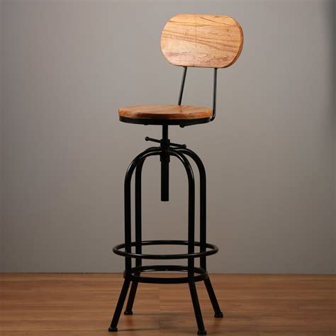 Industrial Swivel Bar Stools With Back by 1x Metal Bar Stool Ari With Back Chair Swivel Adjustable