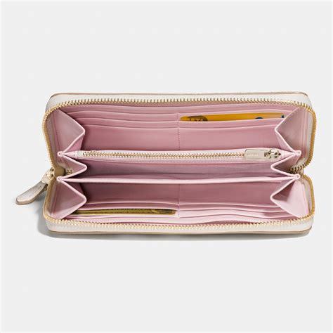 Print Zip Wallet coach accordion zip wallet in floral print coated canvas