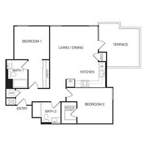 Floor Plan Of Two Bedroom Flat Apartments For Rent In Hollywood 2 Bedroom Apartments