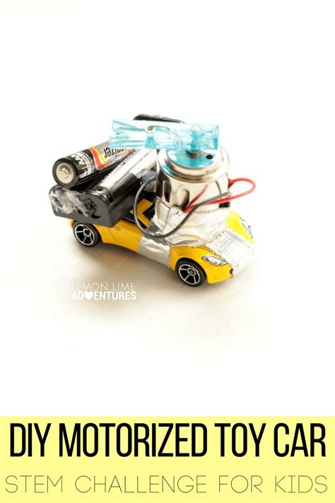 motorized toys diy motorized car stem challenge for
