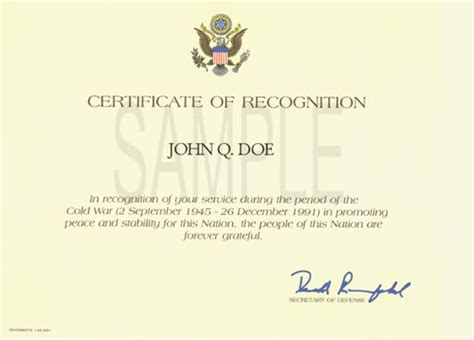 volunteer award certificate template how to get a cold war recognition certificate tutorial