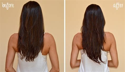 extension in back and side hair how to subtly put in hair extensions before after