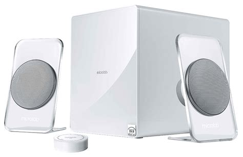 modern speakers microlab fc60bt 2 1 speaker system promises crystal clear