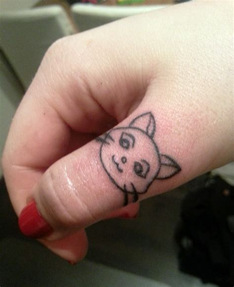 small cat face tattoo 20 ideas of small cat tattoos yo