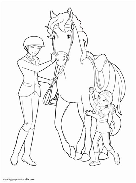 coloring pages of barbie and her sisters barbie and her sisters in a pony tale coloring pages 2