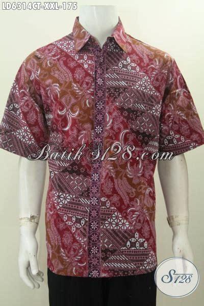 jual baju xxl online di jual online pakaian batik lengan pendek untuk pria