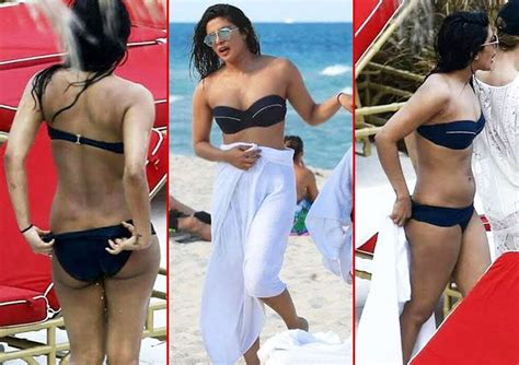 priyanka chopra en bikini priyanka chopra looks frightful and flabby in these bikini