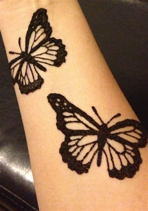 henna butterfly tattoo henna pinterest