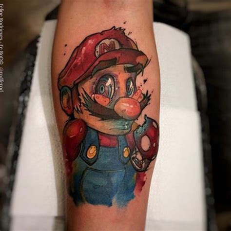 tattoo new school mario super mario tattoo by felipe rodrigues tattoo