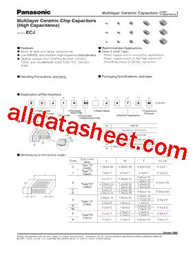 panasonic ceramic capacitor datasheet ecj1vb0g106m datasheet pdf panasonic semiconductor