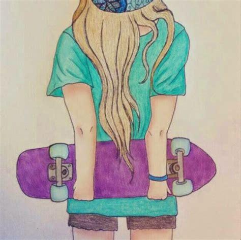 imagenes de skate para dibujar a lapiz dibujo de chica skater by isylove on deviantart