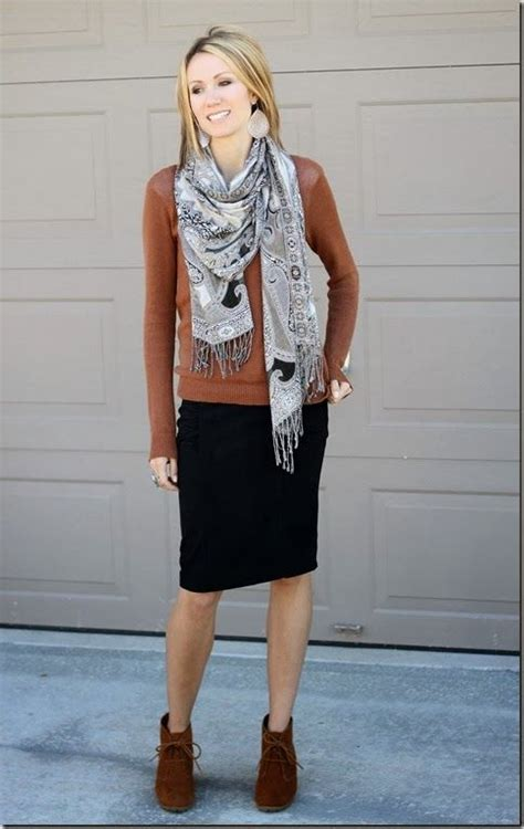 brown patterned pencil skirt 45 best ankle boots outfit images on pinterest my style