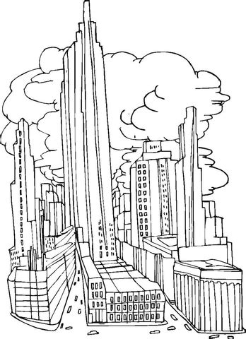 coloring pages of world trade center coloriage la ville de new york avant le 11 septembre