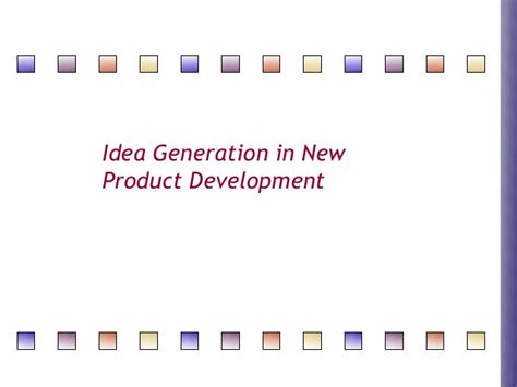 product design idea generation new product development