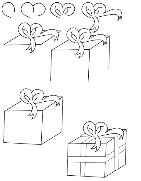christmas drawing step by step and gift to gift cartoon best 25 pictures to draw ideas on doodles patterns