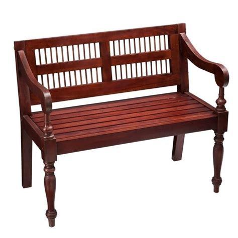 mahogany benches southern enterprises classic mahogany bench bc9244