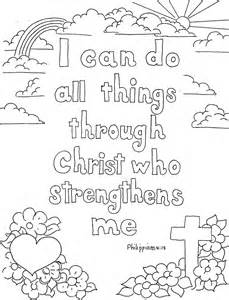 coloring pages kids adron philippians 4 13 print color