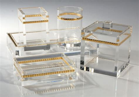lucite bathroom accessories alex s style lucite for all budgets the coolest