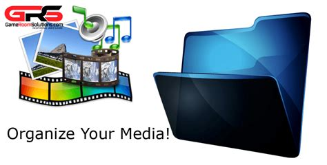 Organize Media | organize your media files game room solutions