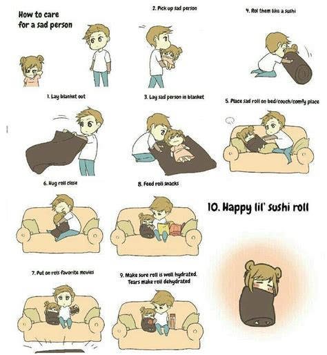 how to care for a how to care for a sad person anime amino