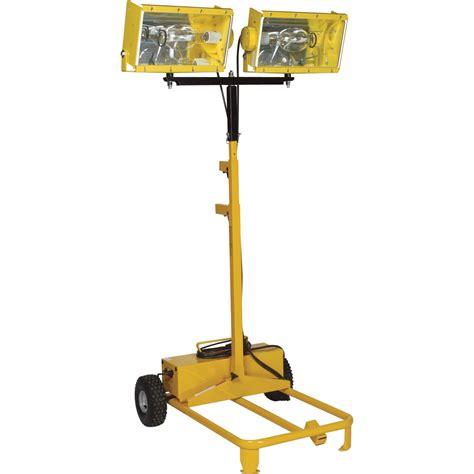 2000 watt portable light cart 115v bull power products dual metal halide light tower