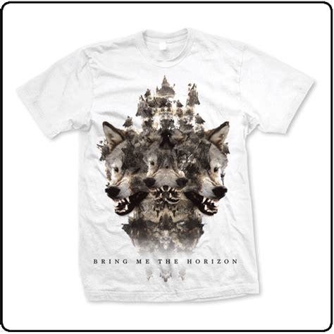 Jam Tangan Custom Bring Me The Horizon Bmth bring me the horizon wolven white t t shirt the