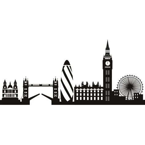 london skyline tattoo skyline decorative wall stickers decal lofts