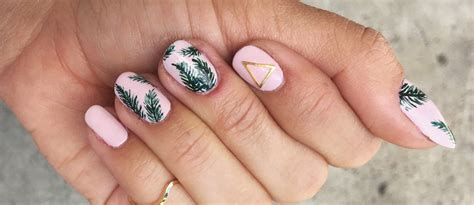 ls made from leaves 24 awesome tropical nails designs to make your summer rock