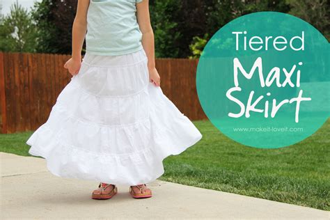 diy tiered maxi skirt and womens sizing
